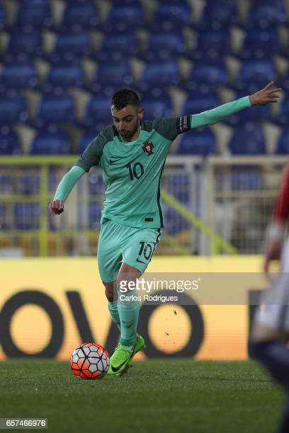 Portugal's midfielder Bruno Fernandes during the match between Portugal v Norway U21 International Friendly match at Estadio Antonio Coimbra da Mota...