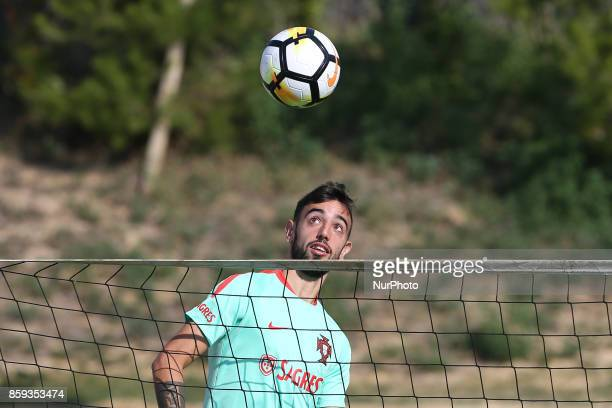 Portugals midfielder Bruno Fernandes in action during National Team Training session before the match between Portugal and Switzerland at City...