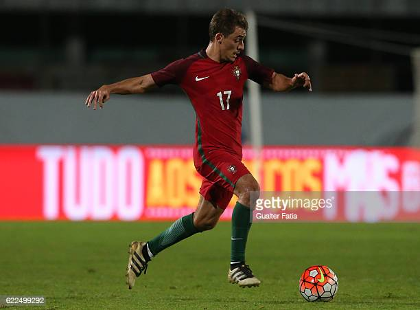 Portugal's midfielder Francisco Geraldes in action during U21 Friendly match between Portugal and Czech Republic at Estadio do Bonfim on November 11...
