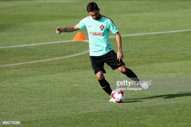 Portugal's midfielder Joao Moutinho during Portugal Training Session and Press Conference for the Confederations Cup 2017 at Cidade do Futebol on...