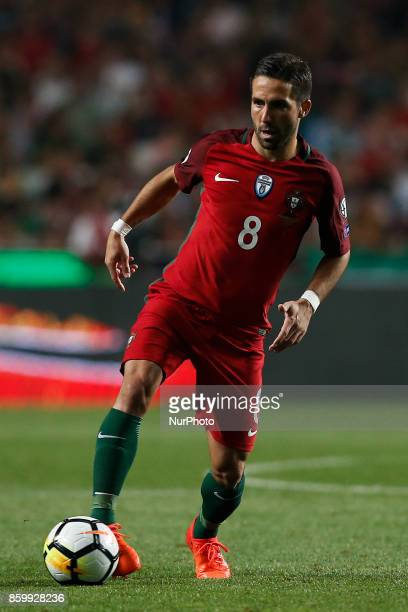 Portugal's midfielder Joao Moutinho in action during the FIFA World Cup WC 2018 football qualifier match between Portugal and Switzerland in Lisbon...