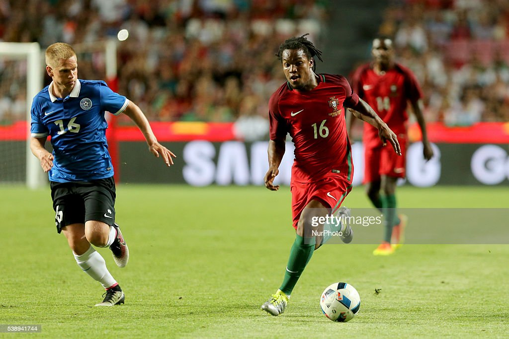 Portugals midfielder Renato Sanches in action during international friendly match between Portugal and Estonia in preparation for the Euro 2016 at...