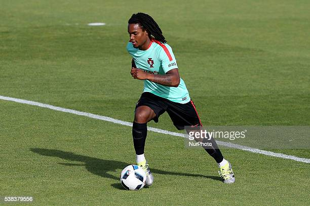 Portugals midfielder Renato Sanches in action during Portugal's National Team Press Conference and Training session in preparation for the Euro 2016...