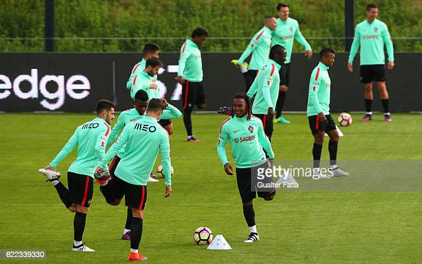 Portugal's midfielder Renato Sanches with teammates in action during Portugal's National Team Training session before the 2018 FIFA World Cup...
