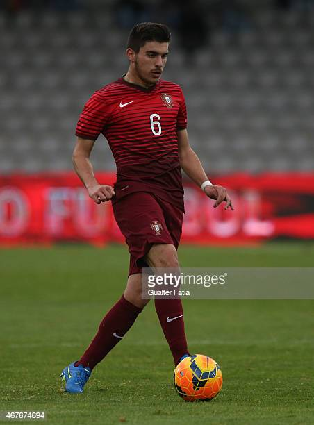 Portugal's midfielder Ruben Neves in action during the U21 International Friendly between Portugal and Denmark on March 26 2015 in Marinha Grande...