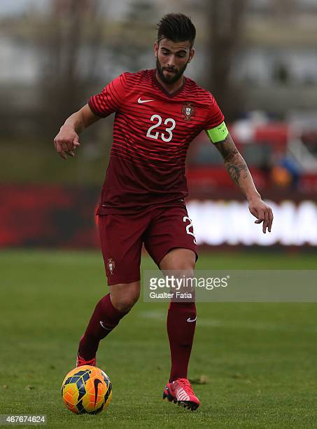 Portugal's midfielder Sergio Oliveira in action during the U21 International Friendly between Portugal and Denmark on March 26 2015 in Marinha Grande...