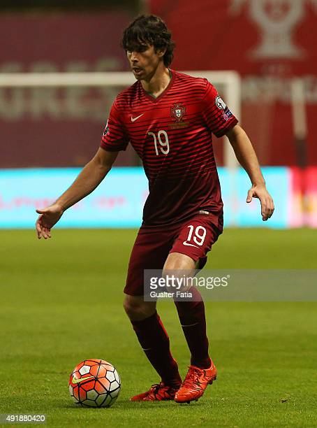 Portugal's midfielder Tiago in action during the UEFA EURO 2016 Qualifier match between Portugal and Denmark at Estadio Municipal de Braga on October...