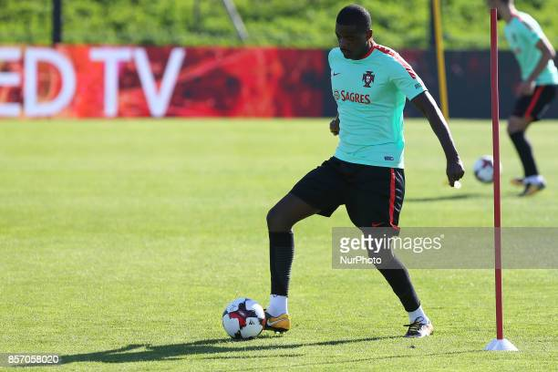 Portugal's midfielder William Carvalho in action during National Team Training session before the match between Portugal and Andorra at City Football...