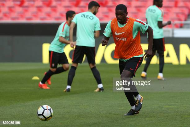 Portugals midfielder William Carvalho in action during National Team Training session before the match between Portugal and Switzerland at Luz...