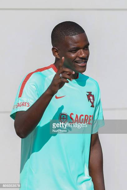 Portugals midfielder William Carvalho in action during National Team Training session before the match between Portugal and Switzerland at City...