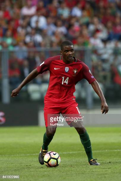 Portugal's midfielder William Carvalho in action during the 2018 FIFA World Cup qualifying football match between Portugal and Faroe Islands at the...