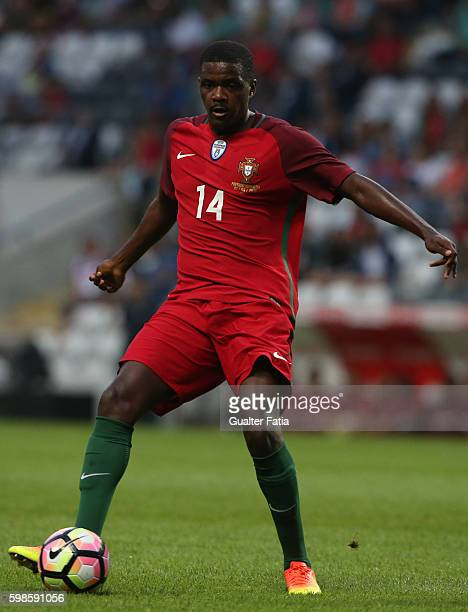 Portugal's midfielder William Carvalho in action during the International Friendly match between Portugal and Gibraltar at Estadio do Bessa on...