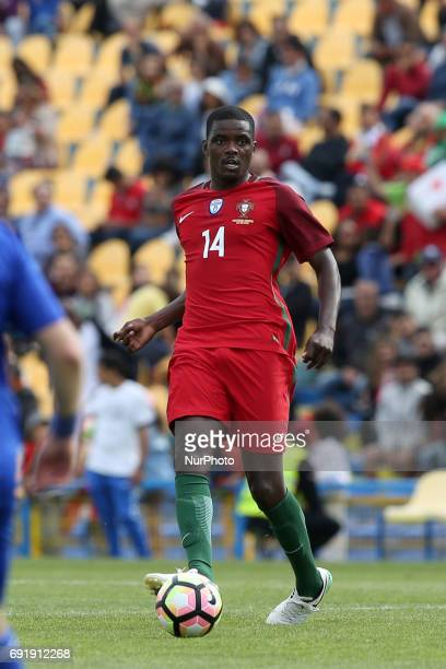 Portugal's midfielder William Carvalho in action during the friendly football match Portugal vs Cyprus at Antonio Coimbra da Mota Stadium in Estoril...