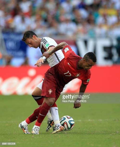 Portugal's Nani and Germany's Mesut Ozil