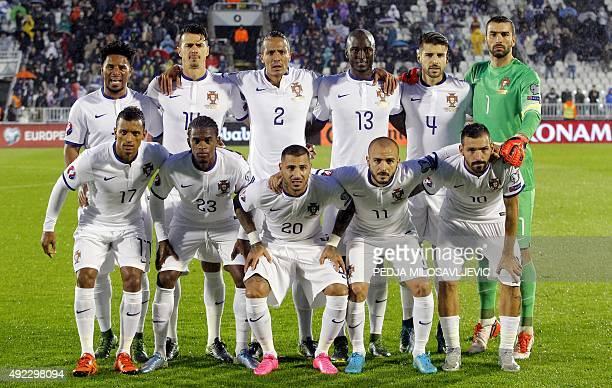 Portugal's national football team players Eliseu Jose Fonte Bruno Alves Danilo Miguel Veloso Rui Patricio and Nani Nelson Semedo Ricardo Quaresma...