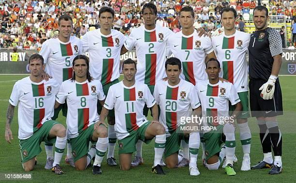 Portugal´s national football team players Raul Meireles Duda Pedro Mendes Paulo Ferreira Simao Sabrosa Bruno Alves Deco Cristiano Ronaldo Liedson...