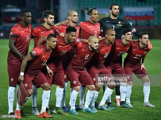Portugal's national football team William Carvalho Nelson Oliveira Pepe Bruno Alves Rui Patricio Nani Eliseu Andre Andre Joao Mario Goncalo Guedes...