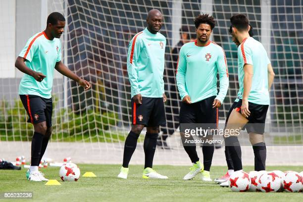 Portugal's player Eliseu attend a training session ahead of FIFA Confederations Cup 2017 in Moscow Russia on July 01 2017 Portugal will take on...
