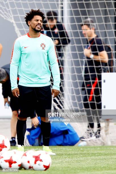 Portugal's player Eliseu attend a training session ahead of FIFA Confederations Cup 2017 in Moscow Russia on July 01 2017 Portugal take on Mexico in...