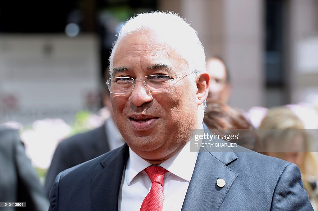 Portugal's Prime minister Antonio Costa arrives before an EU summit meeting on June 28, 2016 at the European Union headquarters in Brussels. / AFP / THIERRY
