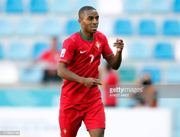Portugal's Ricardo celebrate after scoring a goal during a group stage football match between Portugal and Cuba at the FIFA Under 20 World Cup at...
