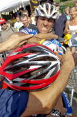 Portugal's Rui Costa fights with Spain's Carlos Barredo after sprinting on July 9 2010 at the end of the 2275 km and 6th stage of the 2010 Tour de...