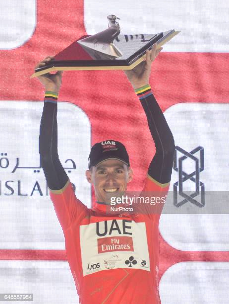 Portugal's Rui Costa from UAE Team Emirates wins the 2017 edition of Abu Dhabi Tour On Sunday February 26 in Yas Marina Island Abu Dhabi UAE