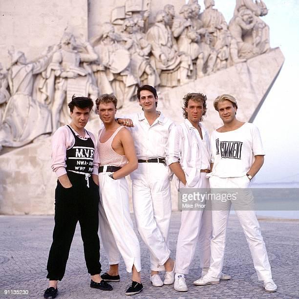Spandau Ballet posed in Lisbon in 1987 LR John Keeble Gary Kemp Tony Hadley Martin Kemp Steve Norman