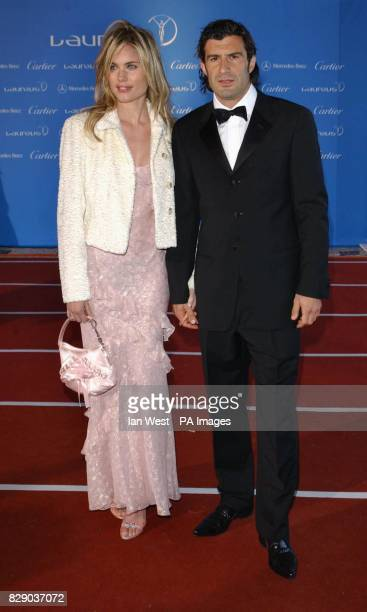 Portugese footballer Luis Figo and guest arrive for the fifth annual Laureus World Sports Awards recognising top acheivers at Centro Cultural De...