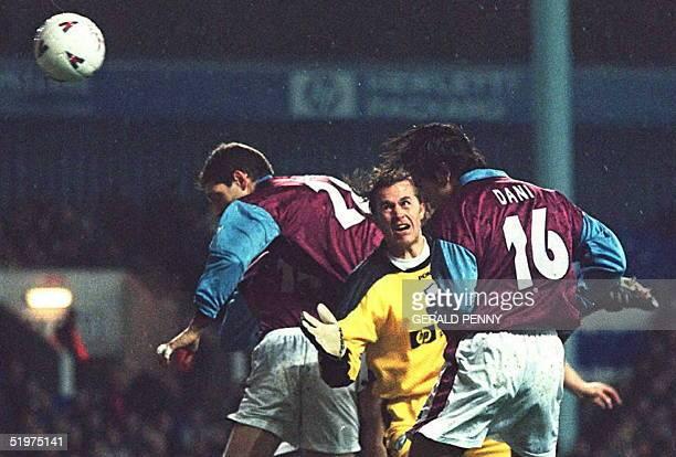 Portugese soccer star Dani da Carvalho scores in his first full game beating Tottenham Goal Keeper Ian Walker and diving team mate Slaven Bilic 12...