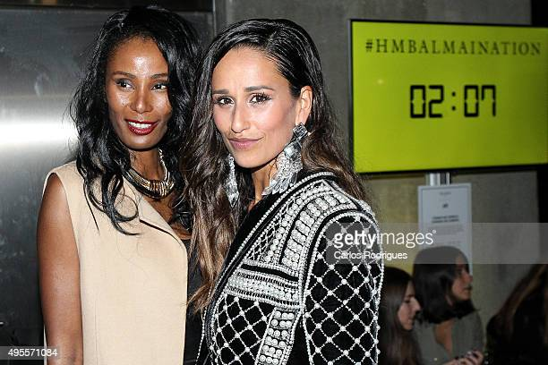Portuguese Actess Rita Pereira and Nayma during the Balmain Launch Event in Lisbon on November 3 2015 in Lisbon Portugal