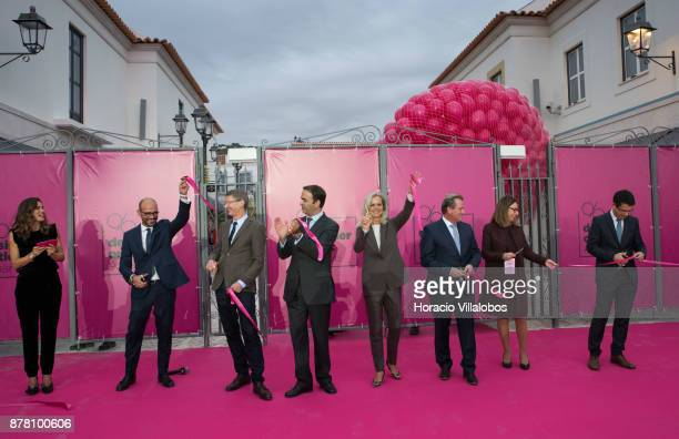 Portuguese actress Claudia Vieira host of the Designer Outlet Algarve Grand Opening manager of Designer Outlet Algarve Miguel Guerreiro IKEA Assets...