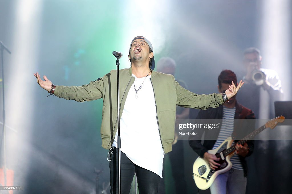 Portuguese band DAMA and Brazilian singer Gabriel o Pensador performs at Rock in Rio Lisboa 2016 music festival in Lisbon, Portugal on May 28, 2016.