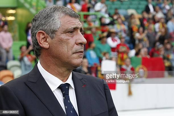 Portuguese coach Fernando Santos during the Friendly match between Portugal and France on September 04 2015 in Lisbon Portugal