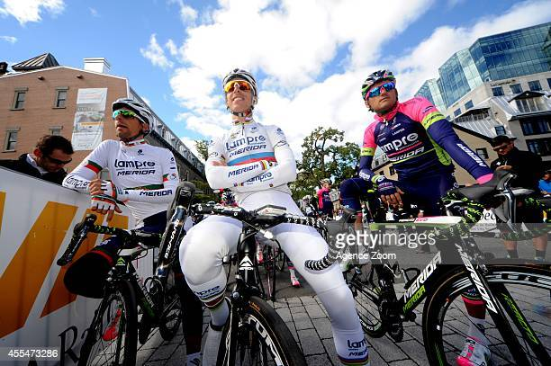 Portuguese cyclist Rui Alberto Costa of Team LampreMerida during the UCI World Tour's Grand Prix Cycliste de Quebec on September 12 2014 in Quebec...