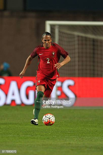 Portuguese defender Bruno Alves during the match between Portugal and Bulgaria Friendly International at Estadio Municipal de Leiria on March 25 2016...