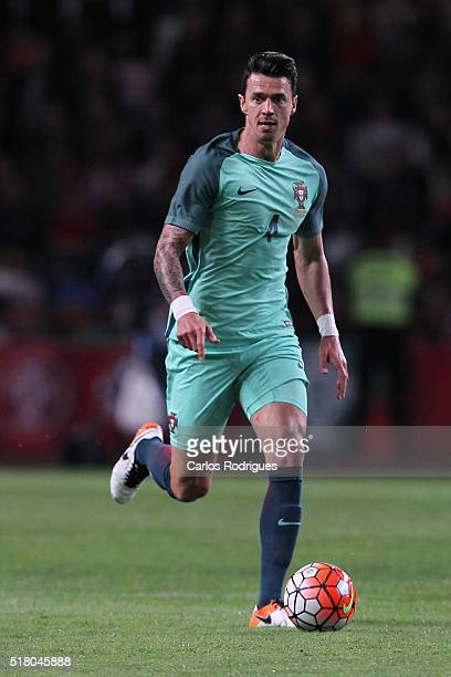 Portuguese defender Jose Fonte during the match between Portugal and Belgium Friendly International at Estadio Municipal de Leiria on March 29 2016...