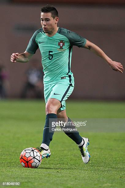 Portuguese defender Raphael Guerreiro during the match between Portugal and Belgium Friendly International at Estadio Municipal de Leiria on March 29...
