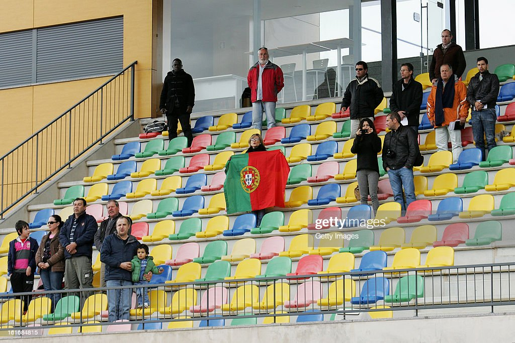 Portuguese fans during the Under17 Algarve Youth Cup match between U17 Portugal and U17 Germany at the Stadium Bela Vista on February 12, 2013 in Parchal, Portugal.