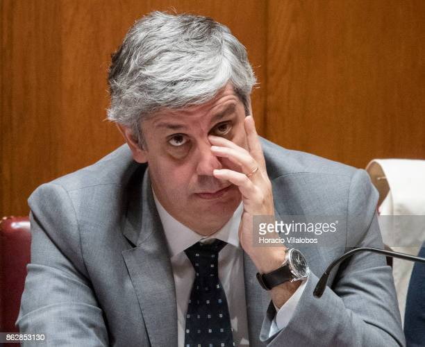 Portuguese Finance Minister Mario Centeno follows lawmakers questions on Portugal's recent forest fires at the biweekly debate in the Assembleia da...