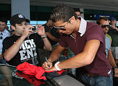 Portuguese football player Cristiano Ronaldo arriving on Madeira Island Portugal on June 10 2007