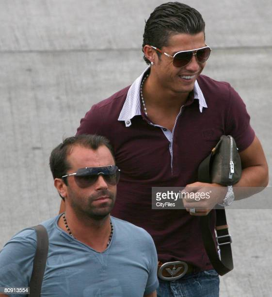 Portuguese football player Cristiano Ronaldo arriving on Madeira Island Portugal on June 10 2007