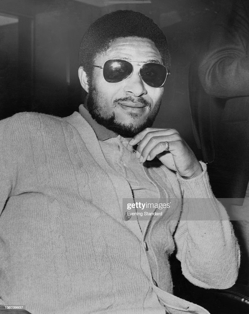 Portuguese footballer Eusebio of Benfica in London before a match against Fulham 29th February 1972