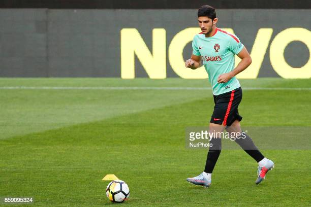 Portuguese forward Goncalo Guedes during National Team Training session before the match between Portugal and Switzerland at Luz Stadium in Lisbon on...