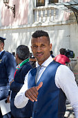 Portuguese forward Nani during the meeting with the countries President Marcelo Rebelo de Sousa for the Portugal Euro 2016 Victory ceremonies at...