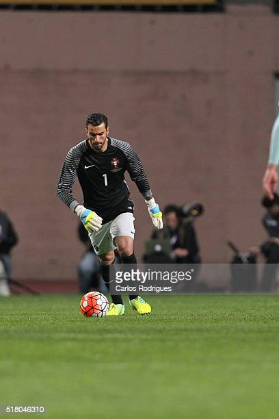 Portuguese goalkeeper Rui Patricio during the match between Portugal and Belgium Friendly International at Estadio Municipal de Leiria on March 29...
