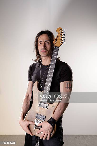 Portuguese guitarist Nuno Bettencourt lead guitarist of American rock band Extreme and current touring guitarist for Rihanna during a portrait shoot...