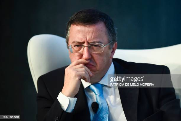 Portuguese judge Carlos Alexandre looks on during the 'Estoril Conferences Global Challenges Local Answers' held at Estoril outskirts of Lisbon on...
