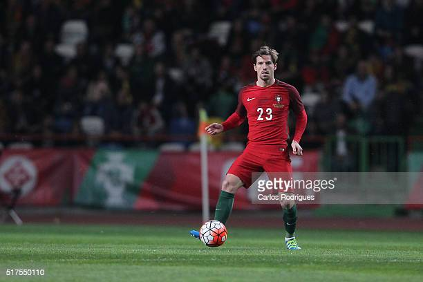 Portuguese midfielder Adrien Silva during the match between Portugal and Bulgaria Friendly International at Estadio Municipal de Leiria on March 25...