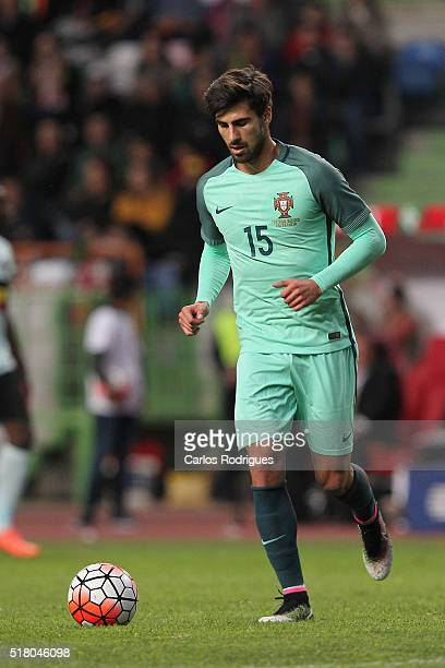 Portuguese midfielder Andre Gomes during the match between Portugal and Belgium Friendly International at Estadio Municipal de Leiria on March 29...